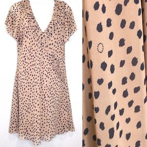 Urban Outfitters leopard dot flutter sleeve dress